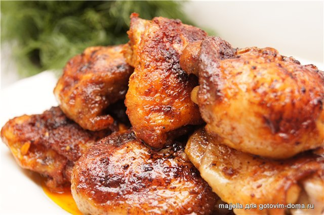 Куриные бедра в духовке рецепты с фото