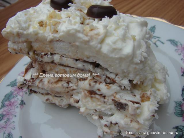 торт с безе и сливками рецепт