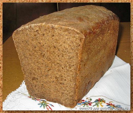 хлеб рецептура Черный с солодом
