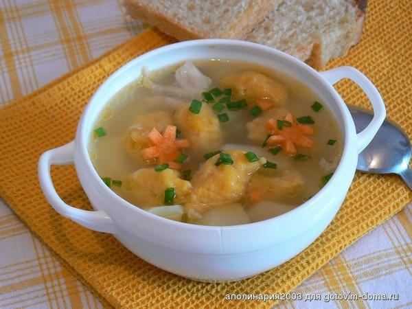 Суп куриный с клёцками пошаговый рецепт с фото
