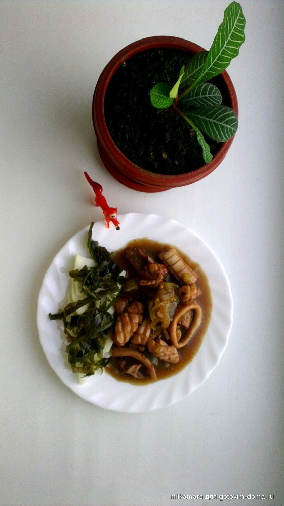 Блюда из кальмар фаршированный
