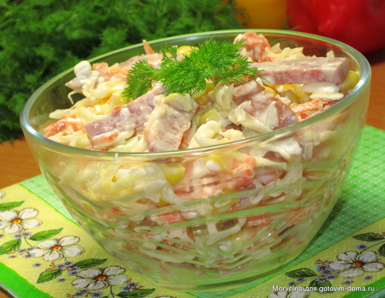 Фото зимнего салата