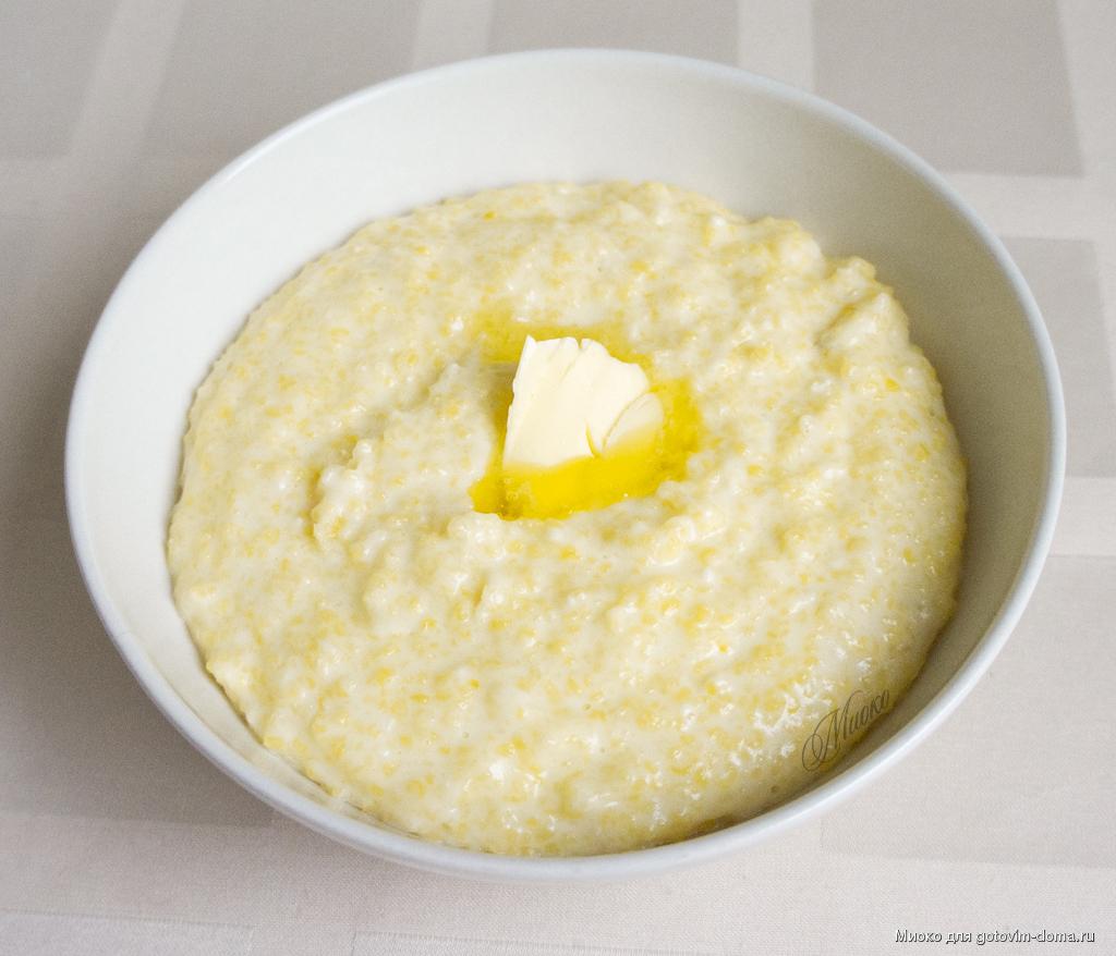 Каша кукурузная с молоком и маслом калорийность
