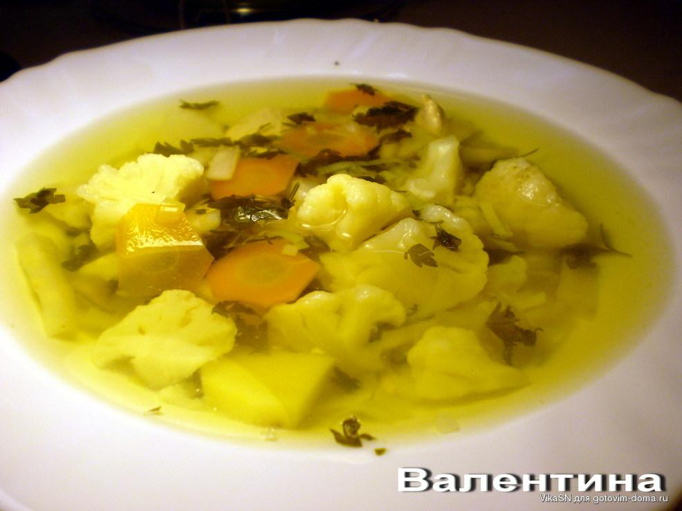 Рецепты куриного супа с цветной капустой