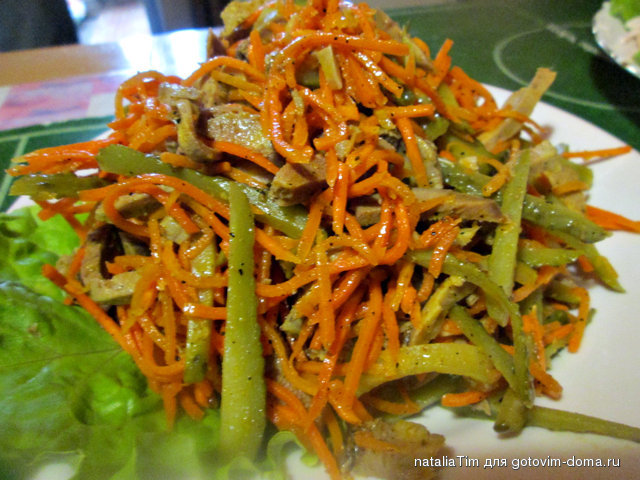 Фото и рецепт острых салатов