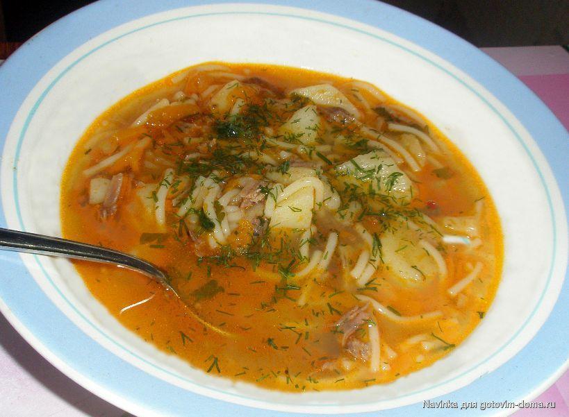 Суп из свинины с вермишелью и картошкой рецепт с фото в мультиварке