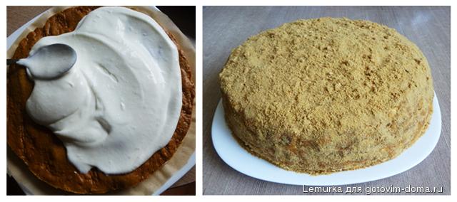 Медовый торт жидкое тесто рецепт фото
