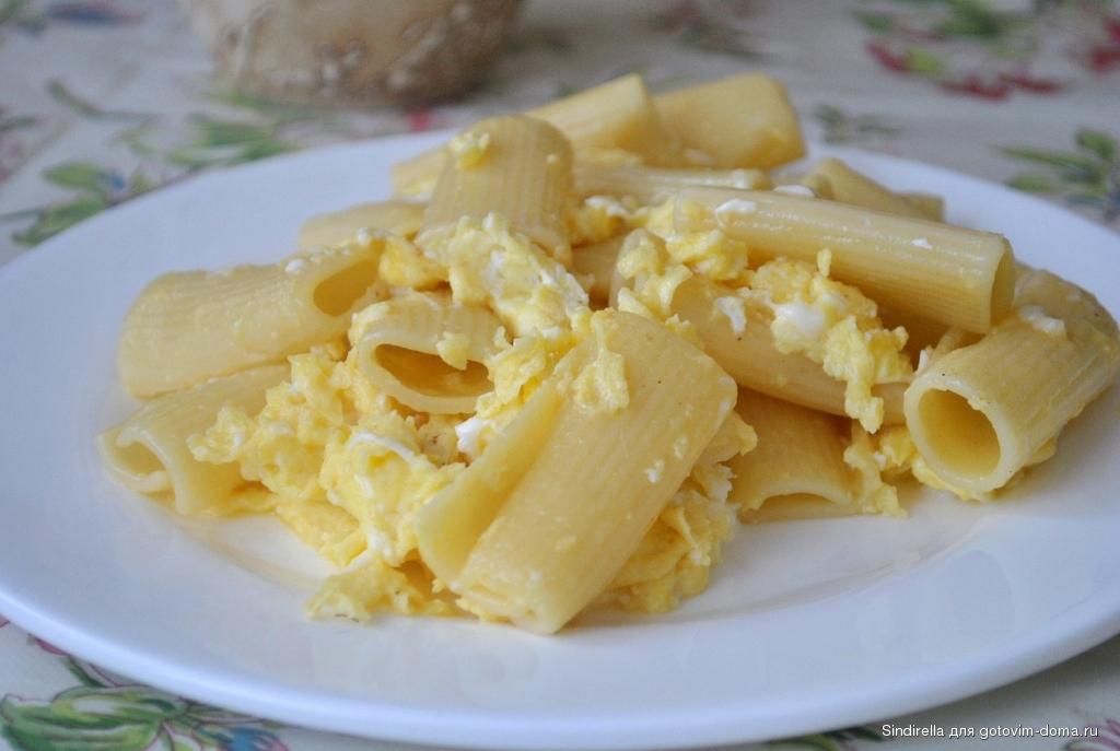 Рецепт макароны с сыром и яйцом в духовке с фото