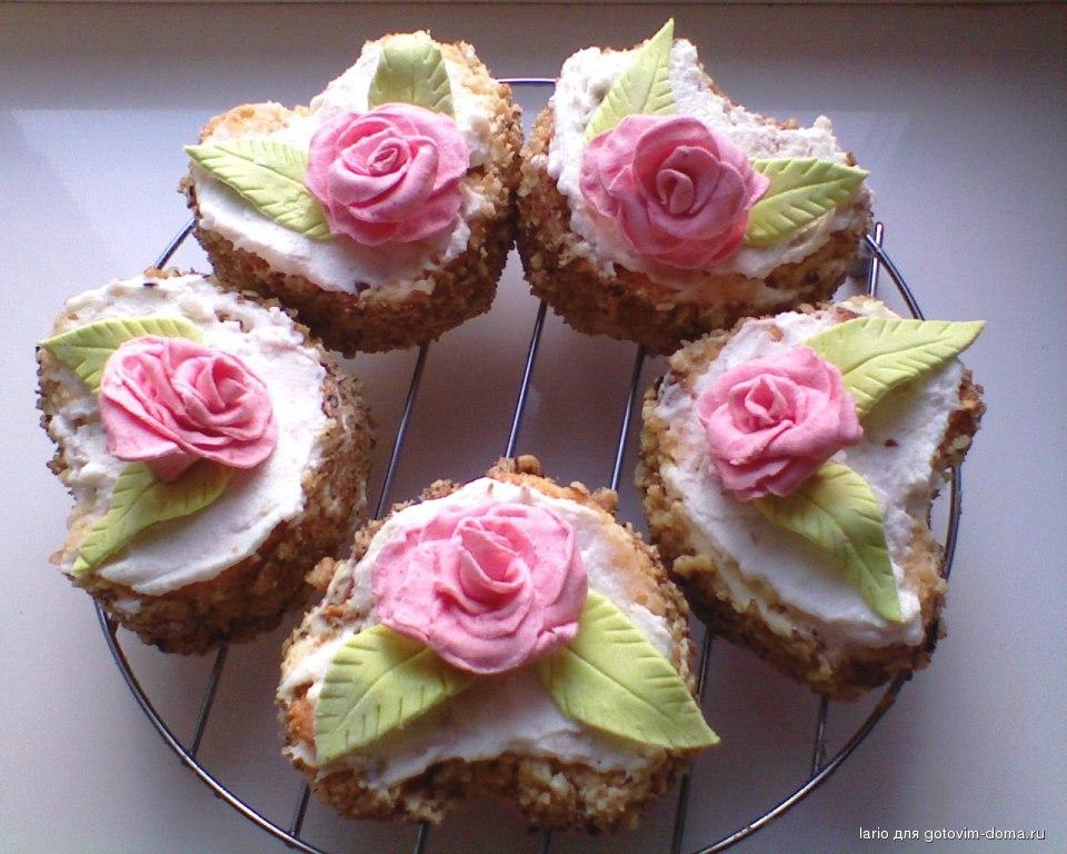 Пирожные из бисквита рецепты