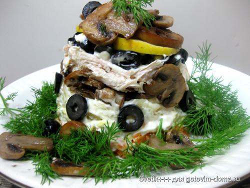 Салат грибной пенек фото