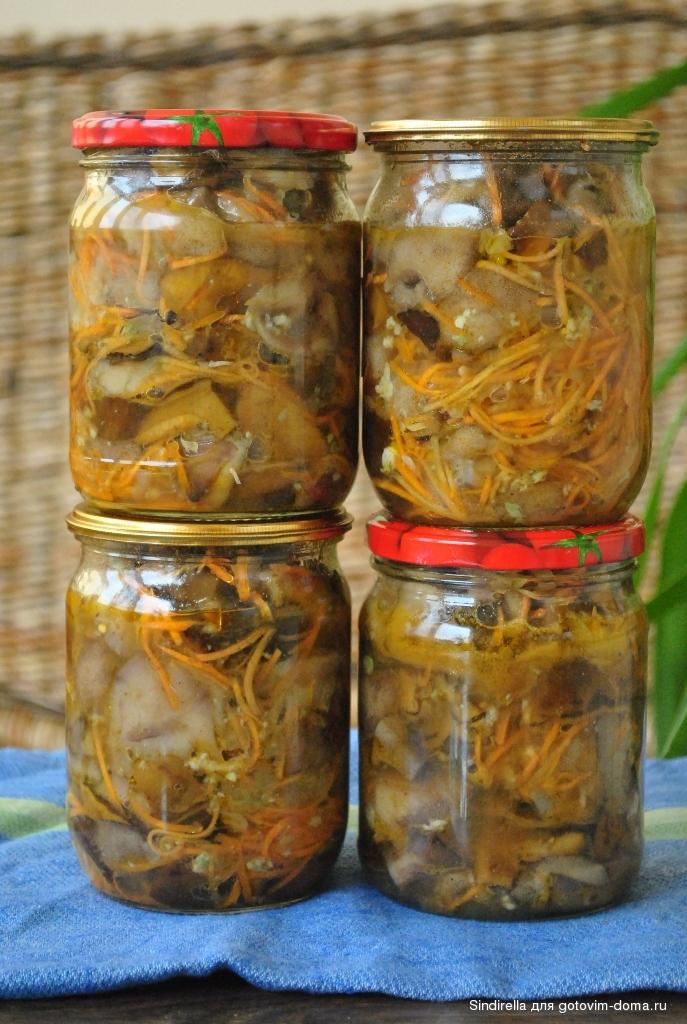 Рецепты грибы по-корейски с пошагово