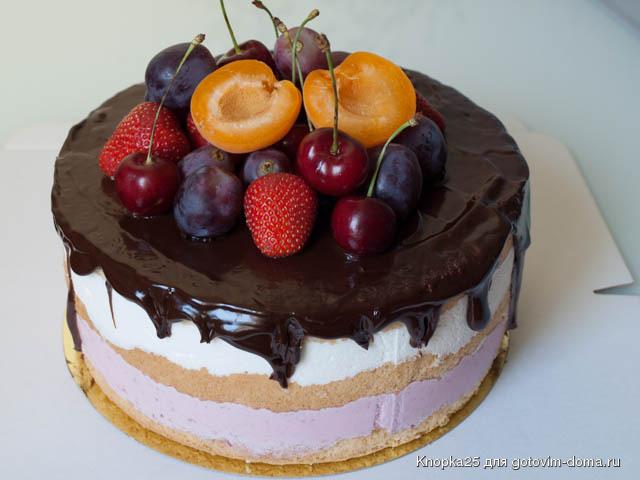 Как бисквитный торт покрыть зеркальной глазурью