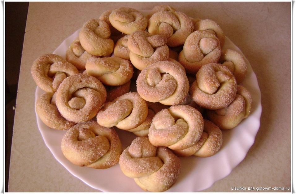 Крендельки с сахаром рецепт с фото