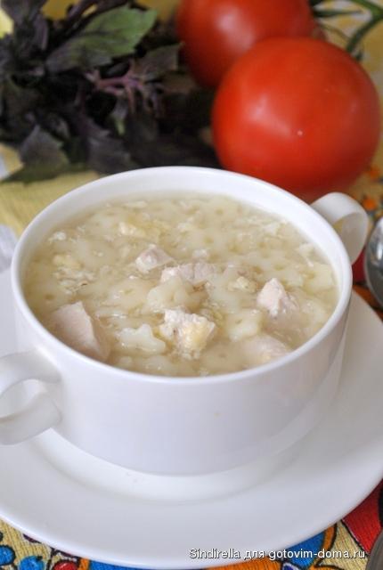 Сырный суп с курицей и твердым сыром рецепт