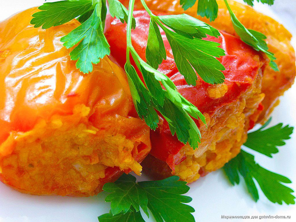 рецепты перца фаршированного в духовке