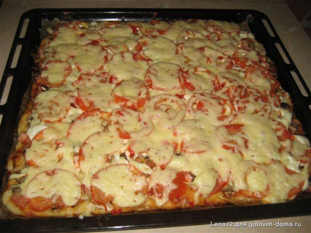 Приготовление пиццы на кефире в домашних условиях