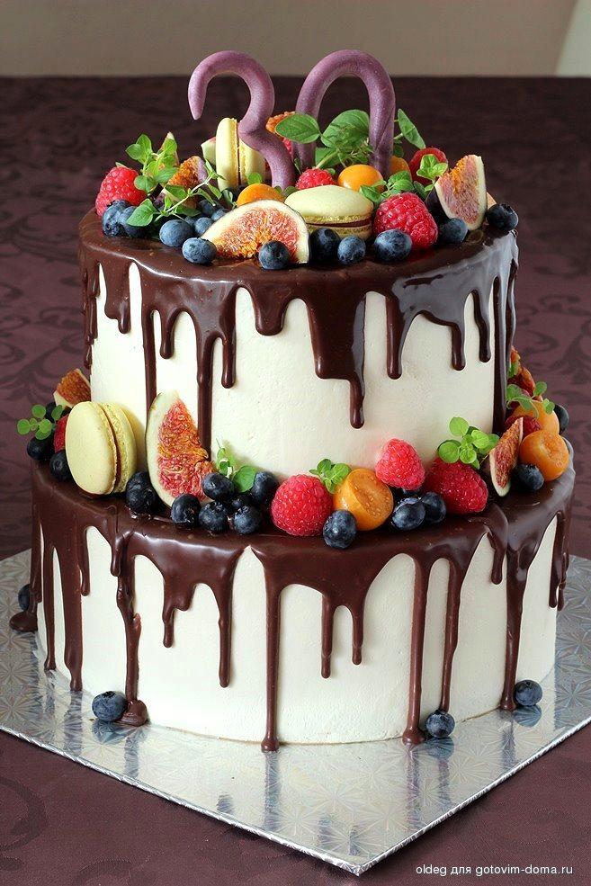 Двухуровневый торт своими руками