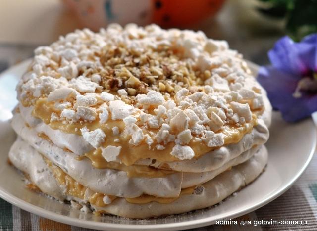 Крем для торта безе заварной рецепт