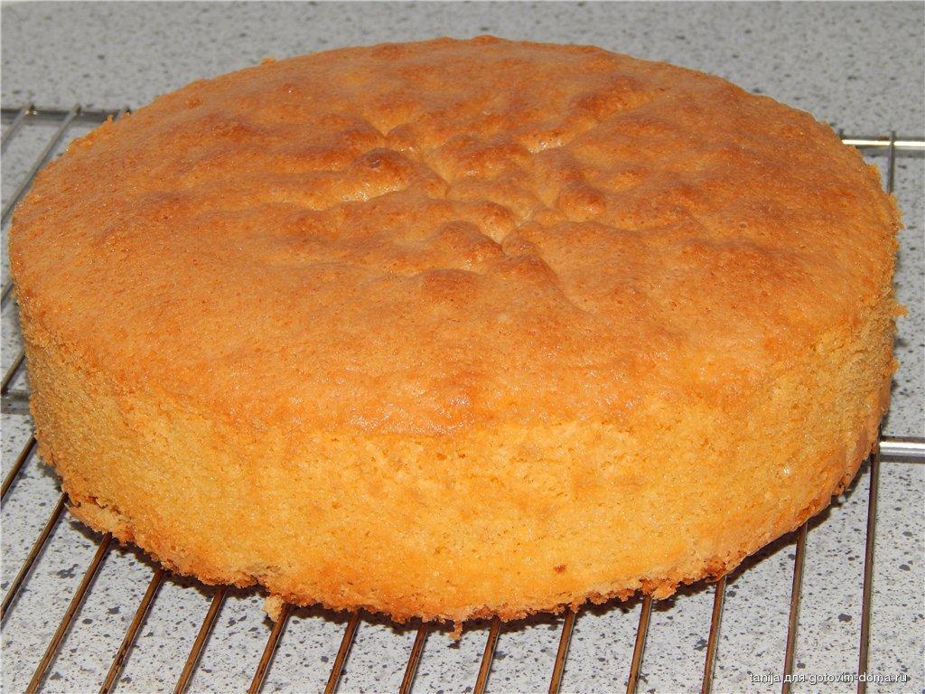 Бисквит на желтках пошаговый рецепт с