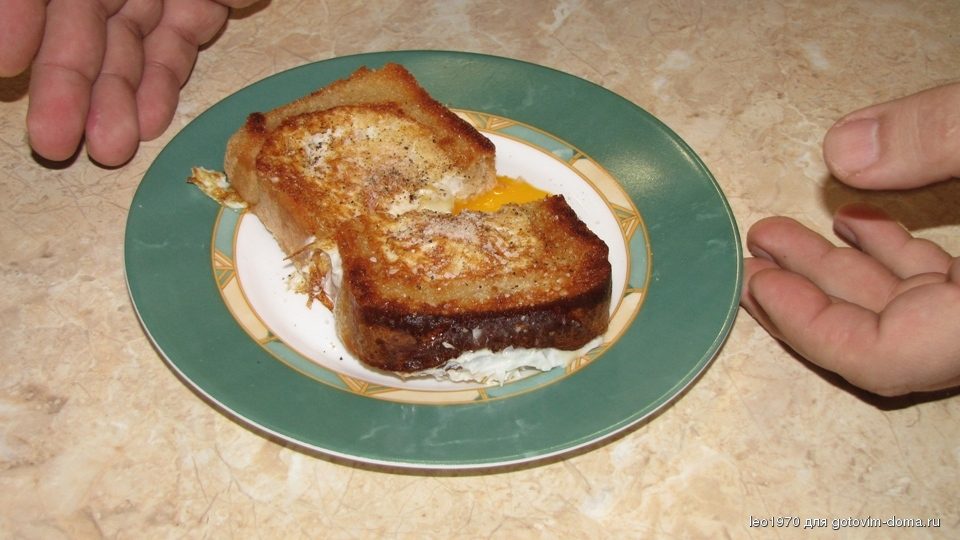 Приготовить хлеб в яйце вкусно