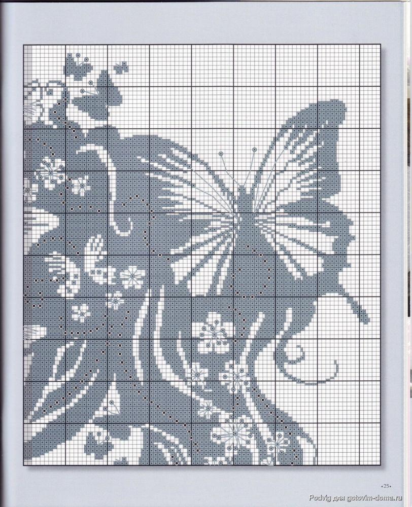 Схема черно белая вышивка