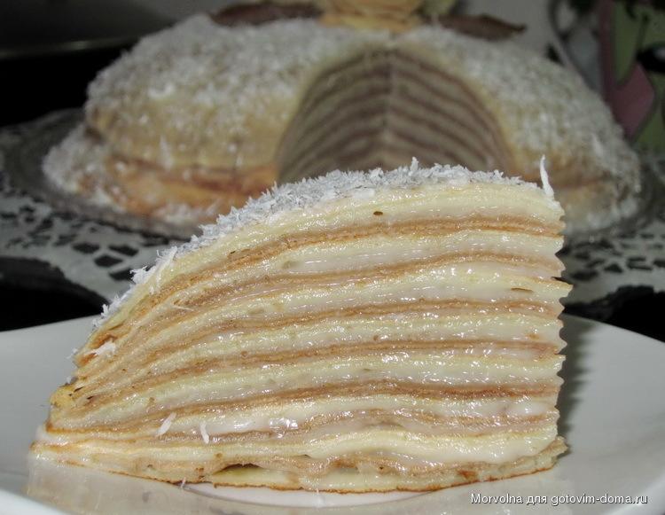 торт с заварным кремом рецепт с фото