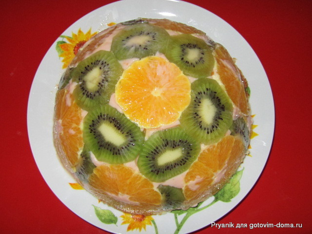 Желейный торт на йогурте