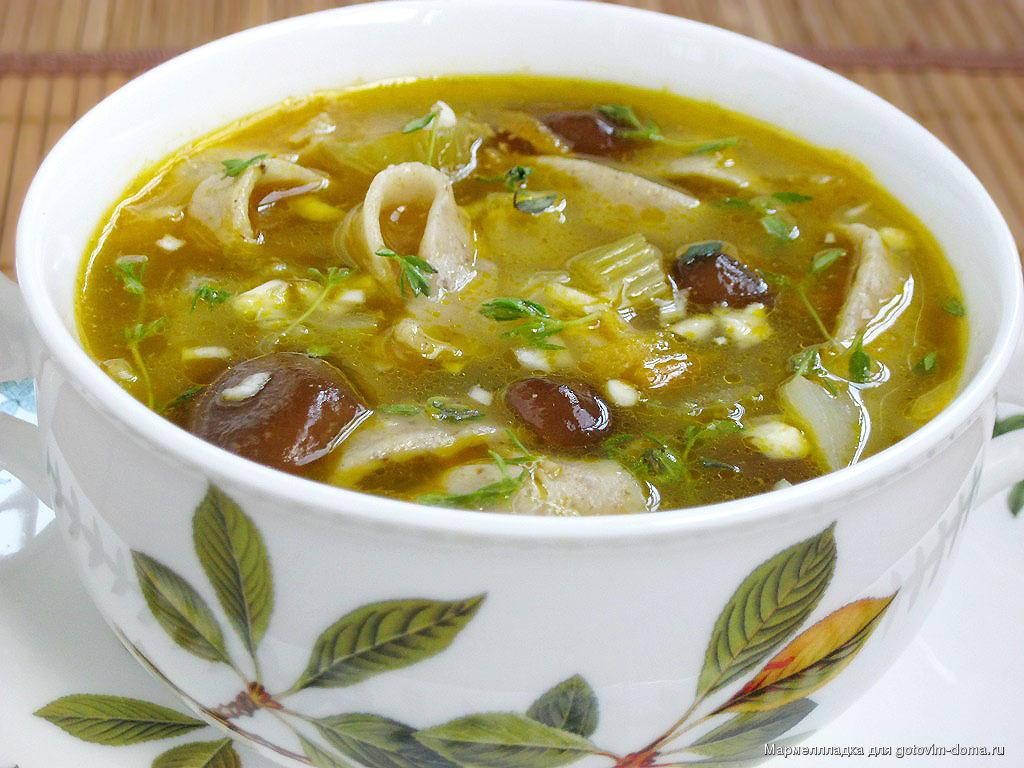 рецепт суп с грибами опятами рецепт