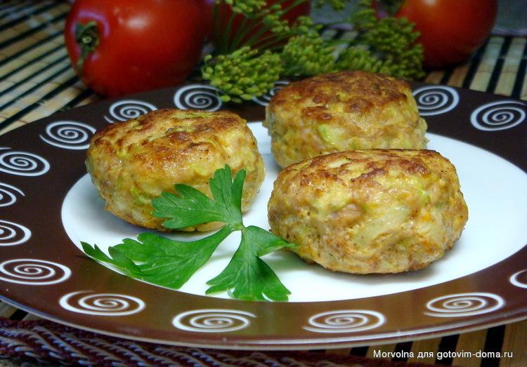 Котлеты из кабачков с фаршем рецепты с пошагово