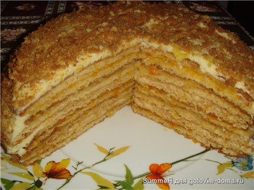 Торт слоёный рецепт