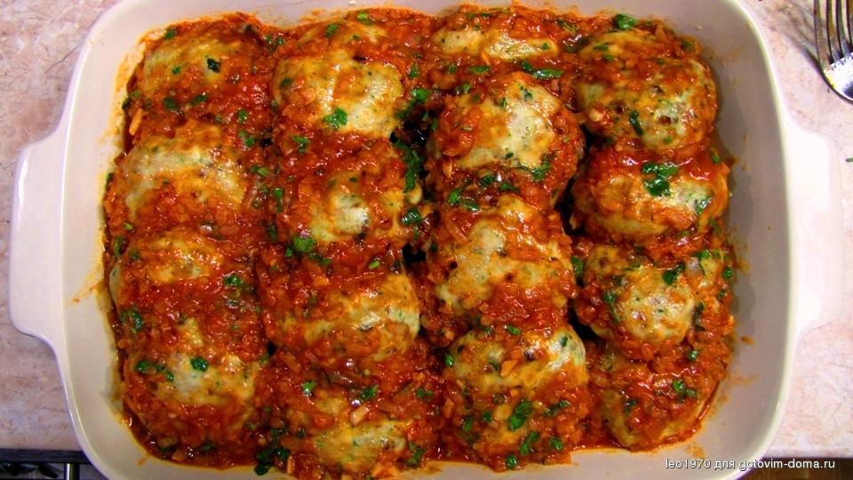 котлеты в духовке с соусом в духовке рецепт с фото