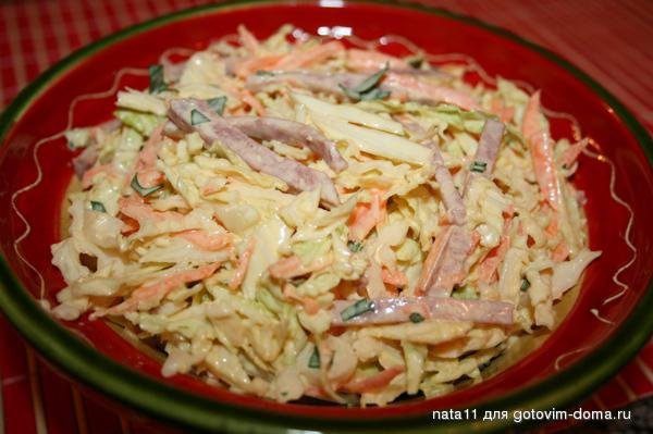 Салат майонезный рецепт с