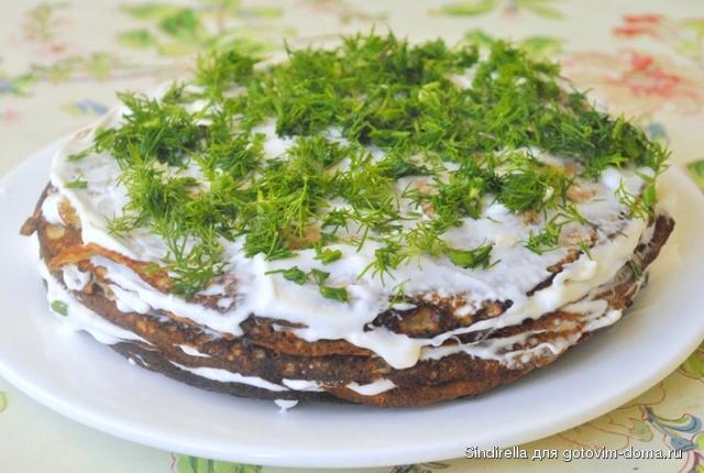 Печёночный торт рецепт со сметаной пошагово