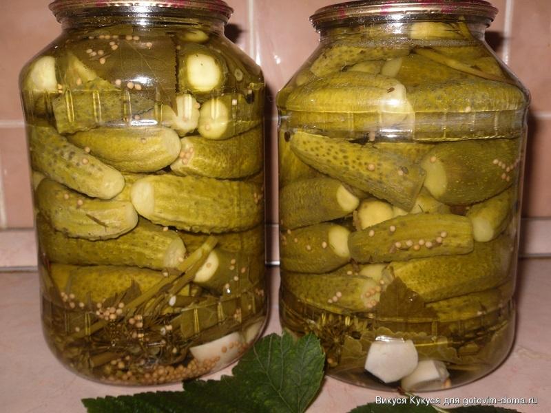 огурцы маринованные хрустящие рецепт с фото