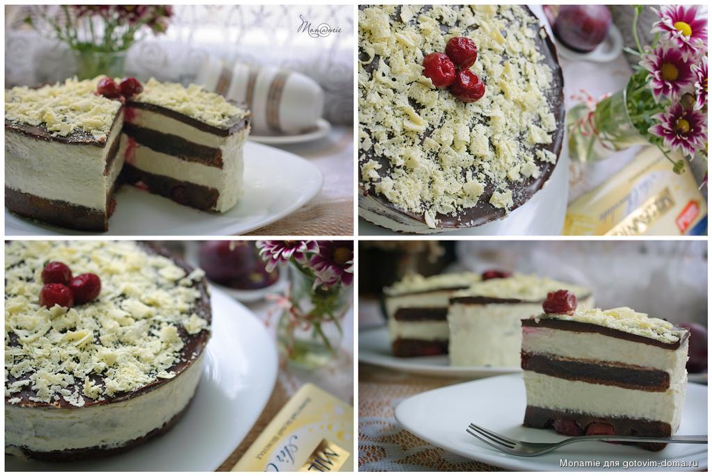 Торт с прослойкой творога