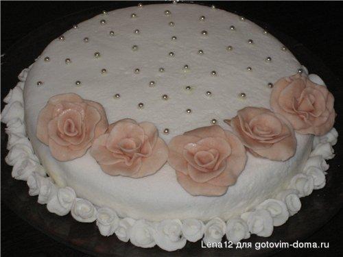 пошаговое приготовление торта с мастикой, торт и рецепт тортов.