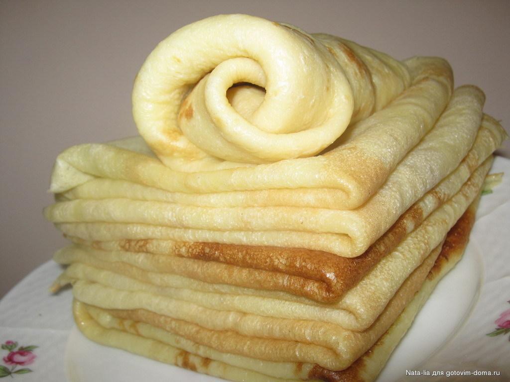 Блинчики на сухих сливках рецепт пошагово
