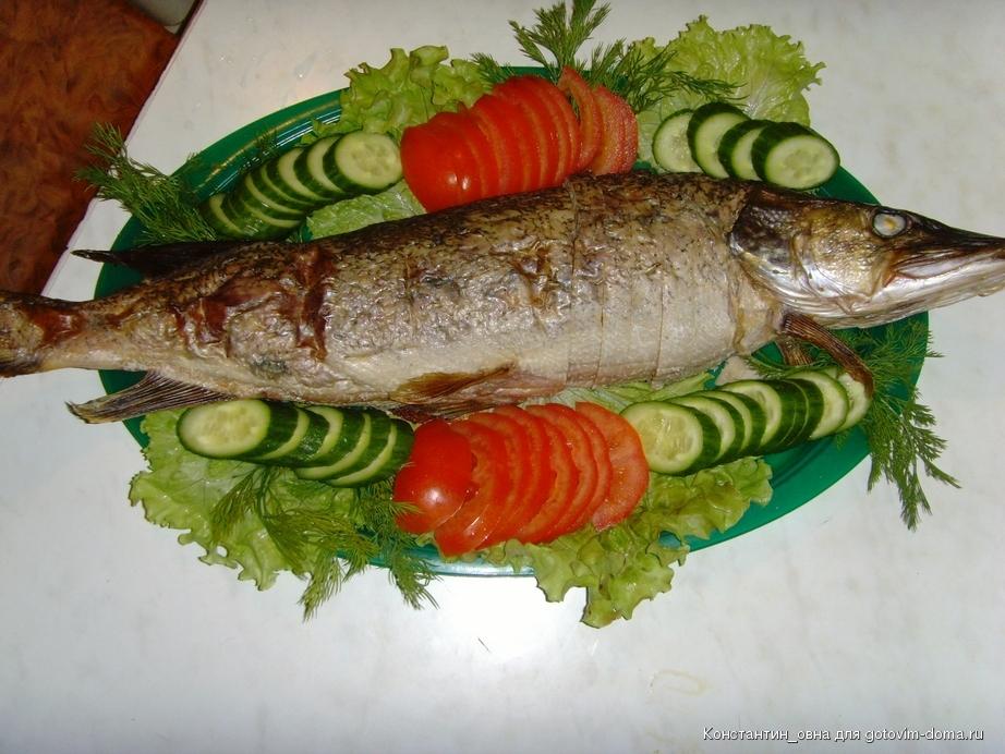 Фаршированная щука с рисом пошаговый рецепт с