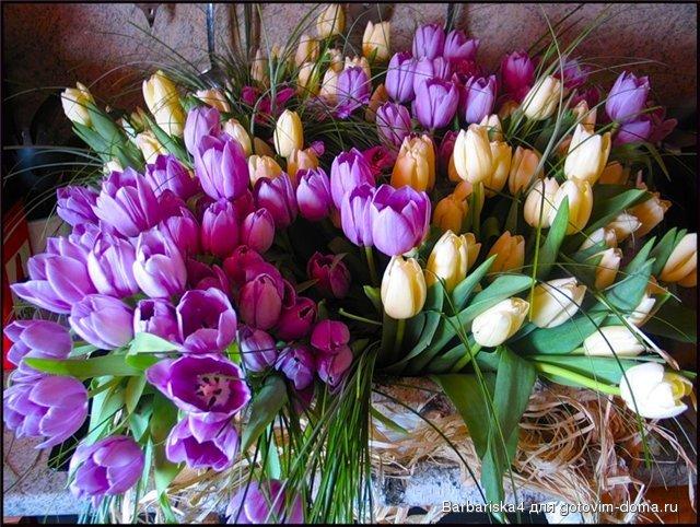 Поздравления с днем рождения тюльпаны 98