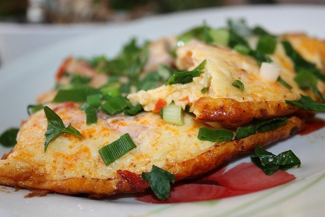 Омлет из помидоров рецепт с фото самые