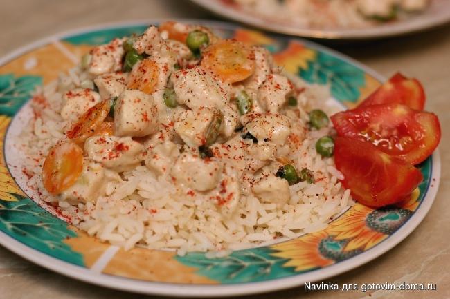 Фрикасе из индейки с овощами рецепт
