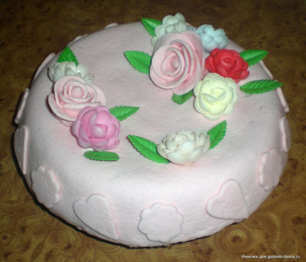 Творожный крем для торта под мастику рецепт пошагово