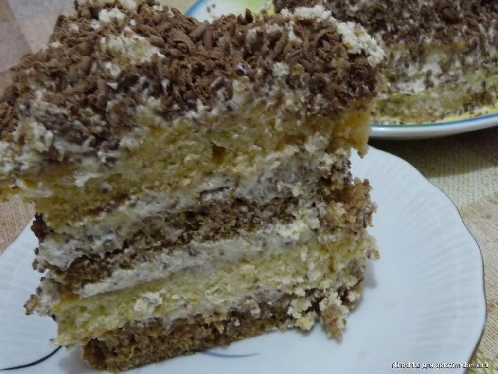 рецепт торта на сметане с фото