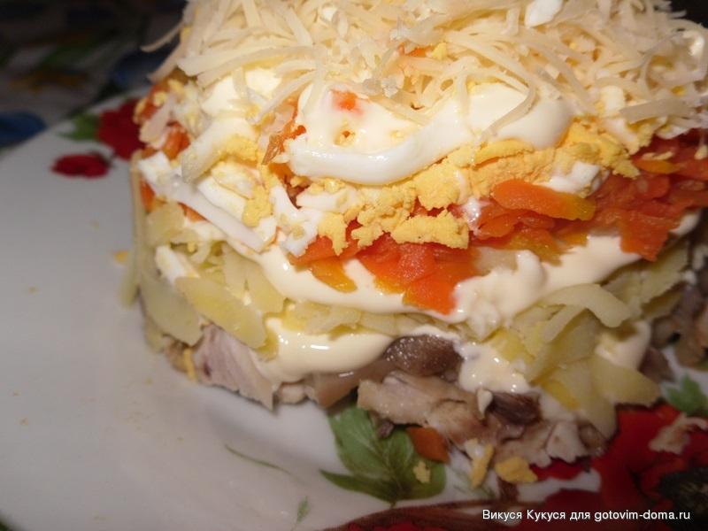 Салат петроградский пошаговый рецепт с фото