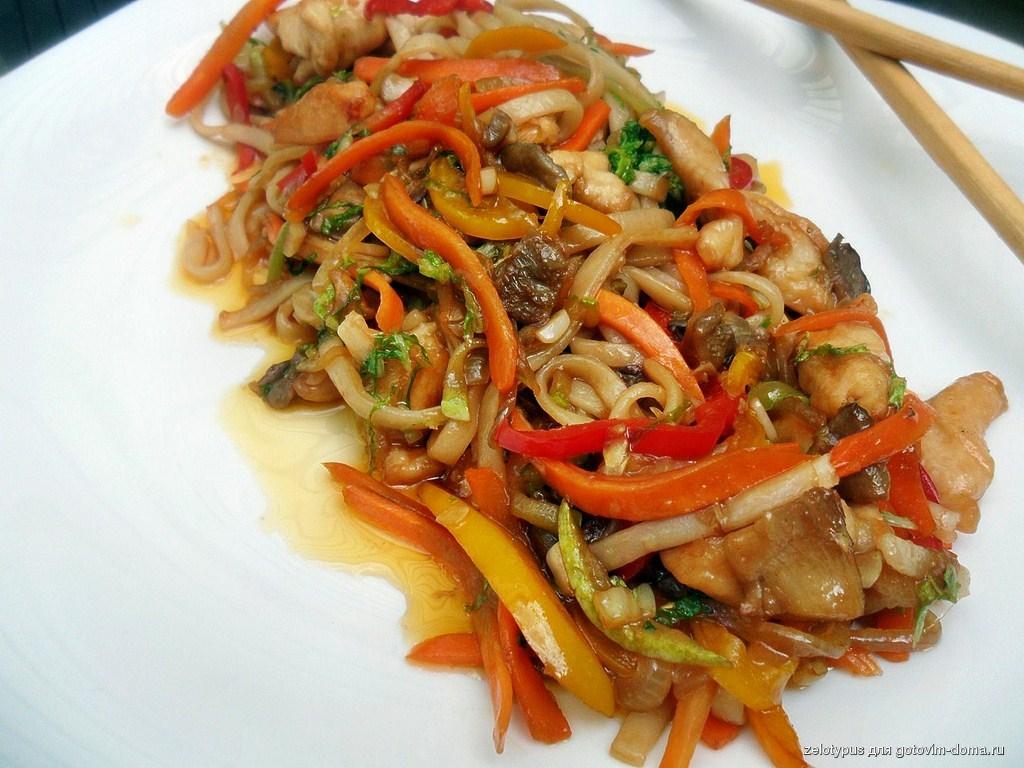 Говядина с овощами и лапшой по китайски рецепт с пошагово
