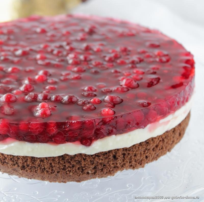 брусничный пирог рецепт с фото