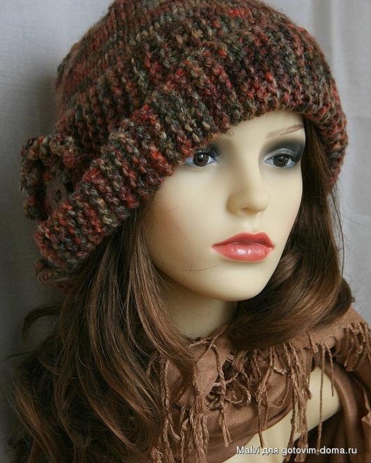 Вязание шапок нет из ниток меланж 98