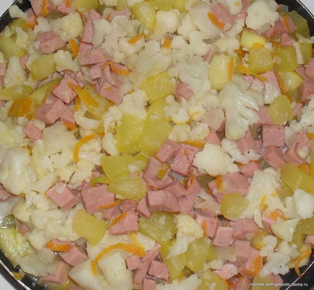 баклажаны с цветной капустой рецепт