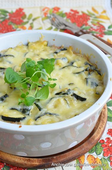 Гречневая запеканка из кабачков и тыквы в духовке - рецепт пошаговый с фото