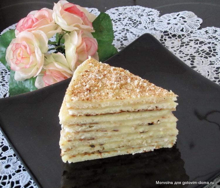 Торт наполеон рецепт со сгущенкой на сковороде рецепт